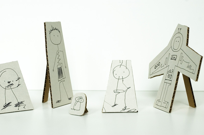 made by joel small cardboard cutouts