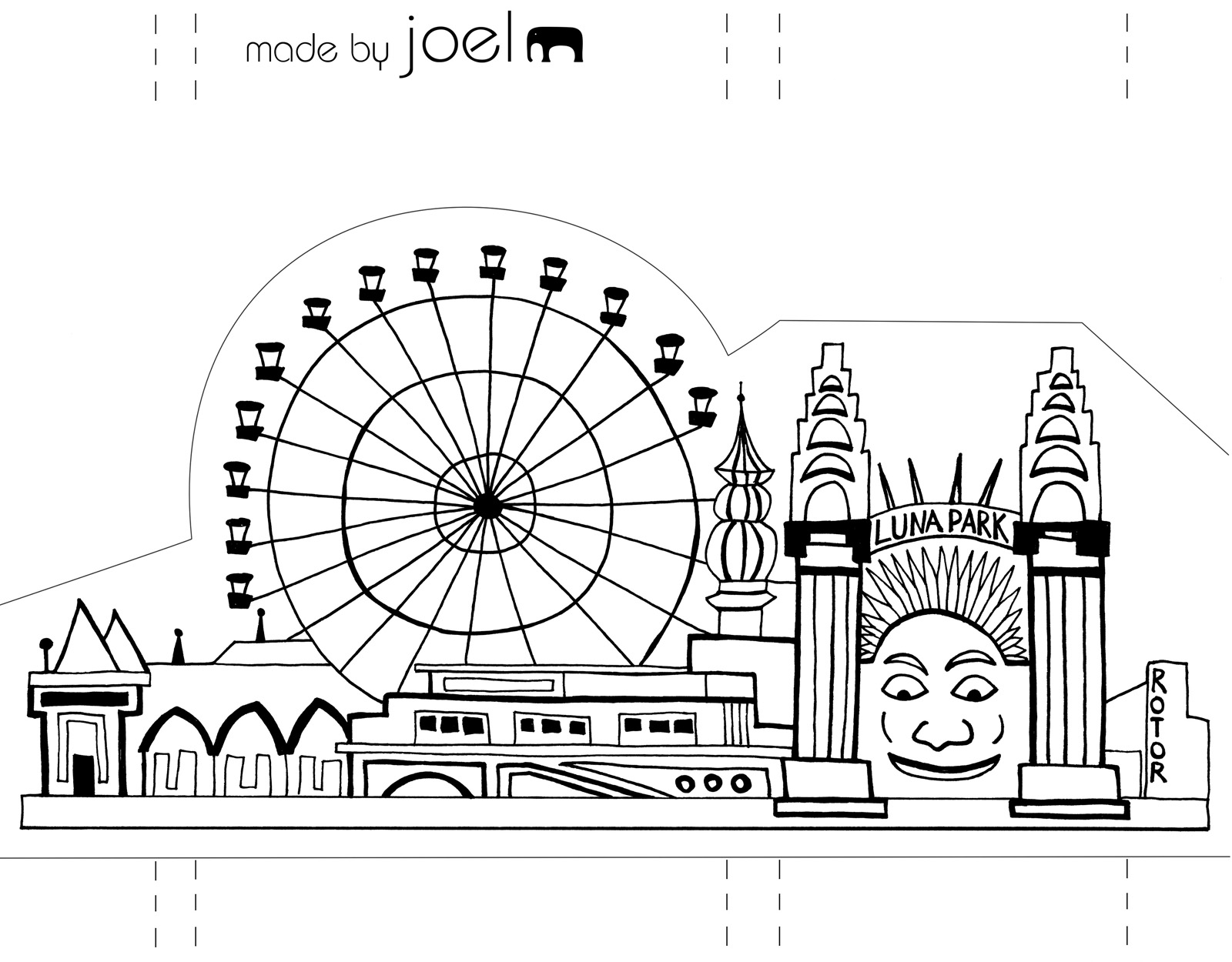 Made By Joel Paper City Sydney Opera House And Luna Park