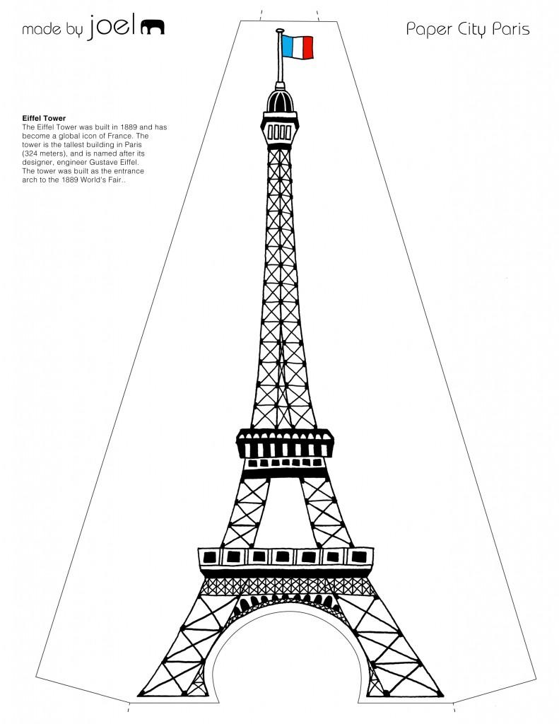 Mesmerizing image regarding eiffel tower template printable