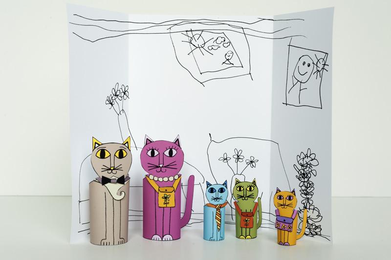 Как на бумаге сделать игрушку для кошки 196