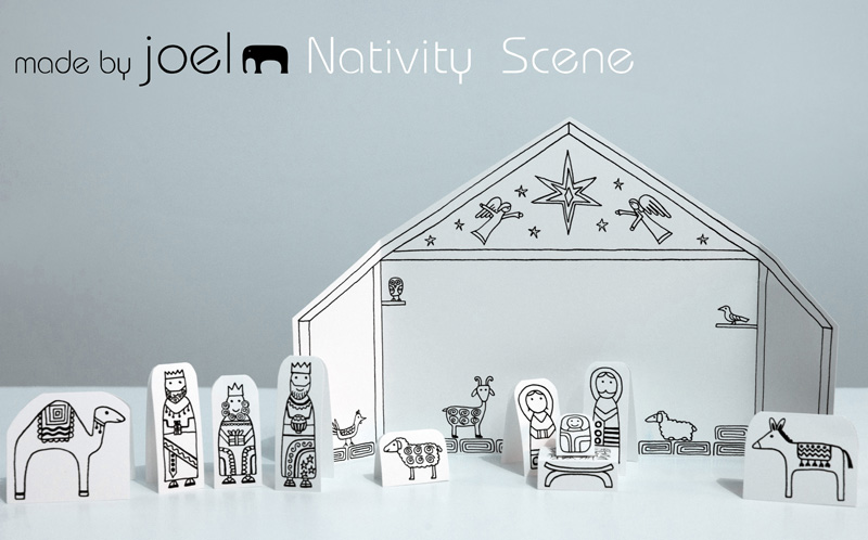 http://madebyjoel.com/2012/12/paper-city-nativity-scene.html