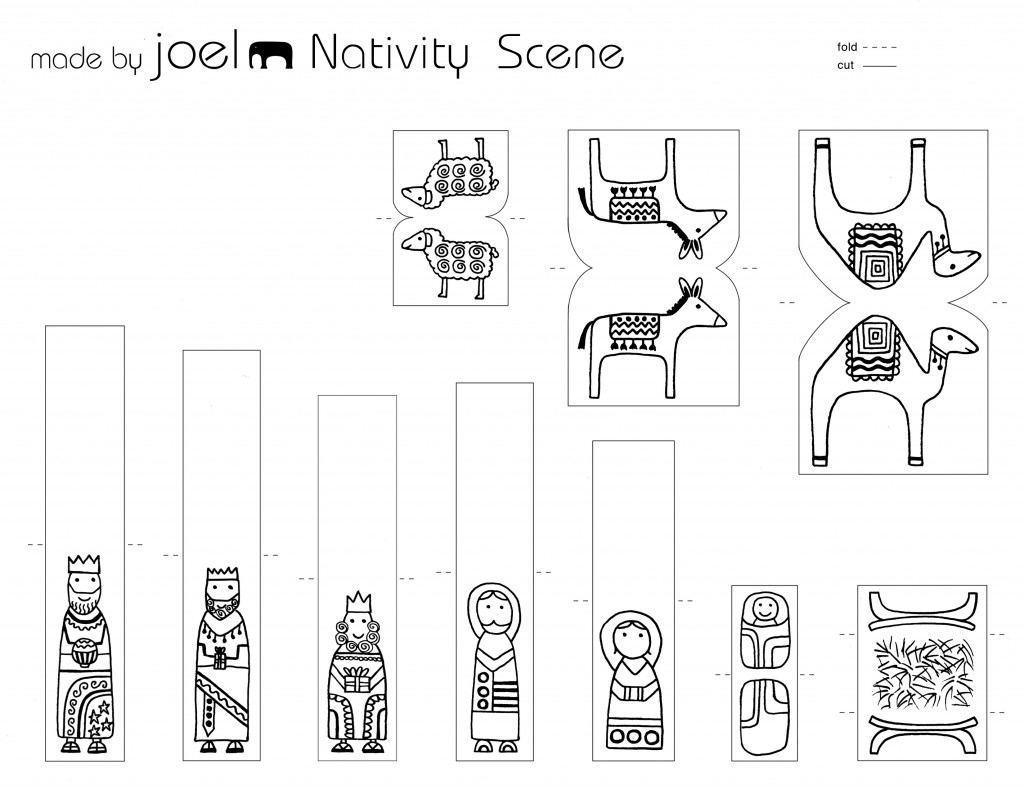 Paper City Nativity Scene Joyfully Expanded Made By Joel