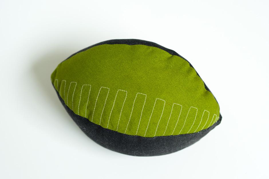 Sewing Pattern Football Pillow: Made by Joel » DIY Fabric Football,