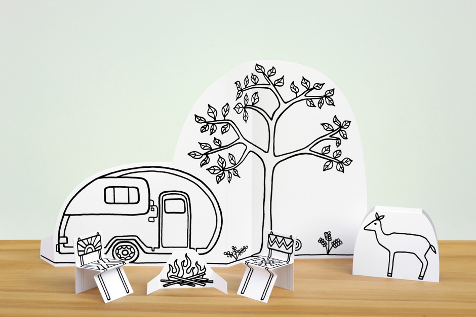 Made By Joel 187 Paper City Camping Scene