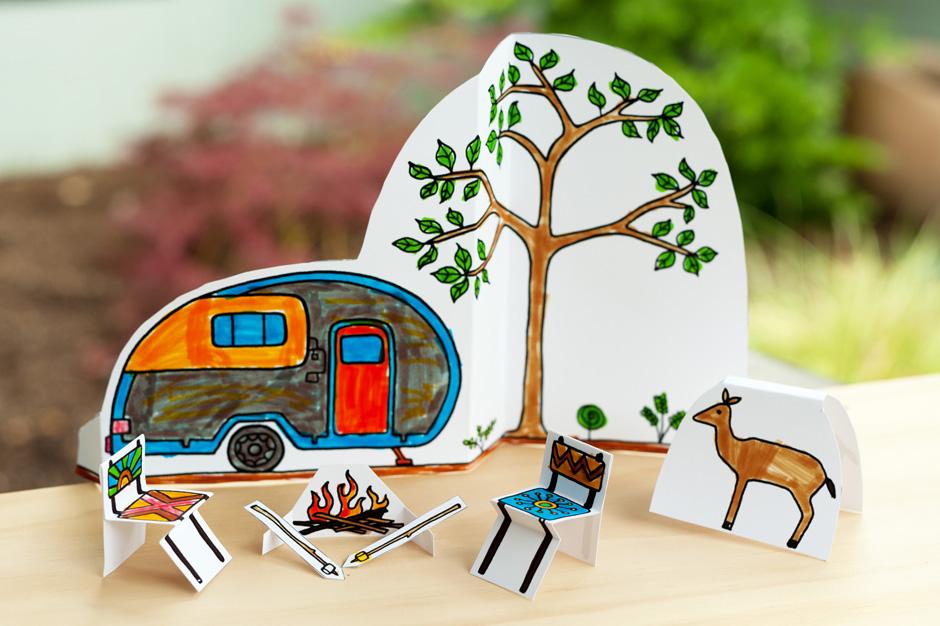 made by joel  u00bb paper city camping scene